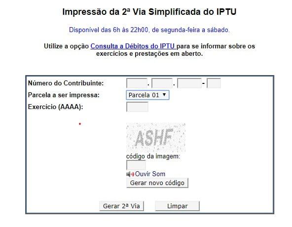 IPTU São Paulo - SP Consulta