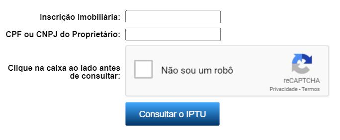 Consulta IPTU- Londrina PR