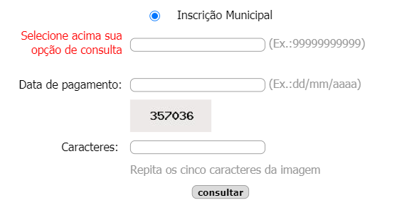 Consulta IPTU Vitoria da Conquista BA