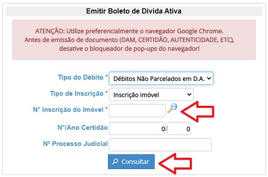 Dívida Ativa IPTU Arapiraca