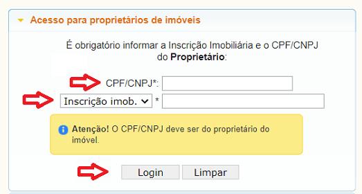Consulta IPTU Joinville SC
